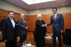 عکس/ دیدار امیر قطر با روحانی