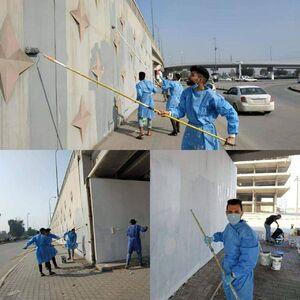 عکس/ بازسازی معابر شهر نجف توسط جوانان