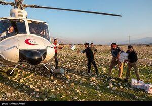 عکس/ امدادرسانی هلالاحمر به مناطق سیلزده لامرد
