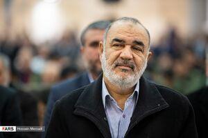 عکس/ سرلشکر سلامی در نماز جمعه تهران