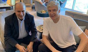 دیدار تاج با یکی از بزرگترین مربیان فوتبال +عکس
