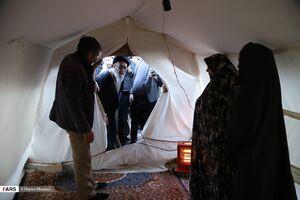 عکس/ بازدیدآل هاشم از مناطق زلزله زده ورزقان