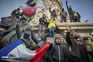 عکس/ تظاهرات فرانسویها برعلیه قانون بازنشستگی