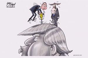 کاریکاتور استیضاح ترامپ
