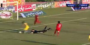 فیلم/ صحنه مشکوک به پنالتی به سود شهرداری ماهشهر