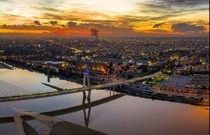 عکس/ نمایی زیبا از غروب شهر اهواز