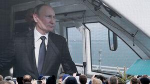 فیلم/ حضور پوتین در افتتاح طولانیترین پُل ریلی اروپا