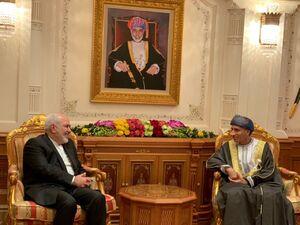 توئیت ظریف از عمان به زبان عربی +عکس