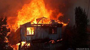 آتش سوزی در شیلی