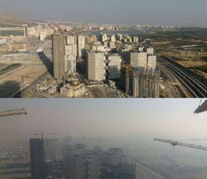 تفاوت یک روز آلوده و پاک در تهران