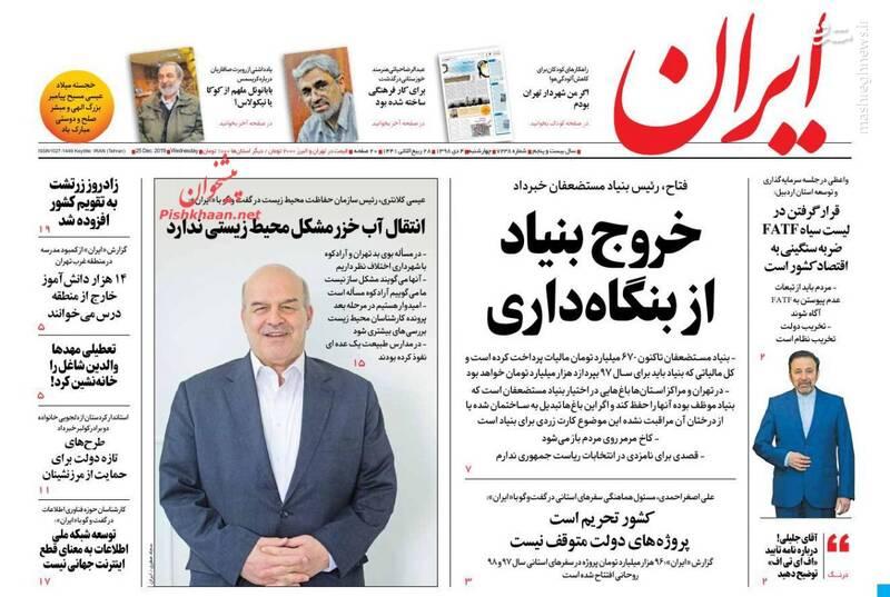 ایران: خروج بنیاد از بنگاهداری