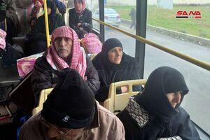 عکس/ بازگشت گروهی از آوارگان سوری