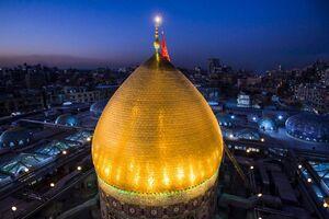تصویری زیبا از گنبد حرم حضرت ابالفضل(ع)