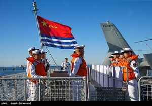 عکس/ ورود ناوشکن چینی به بندر چابهار