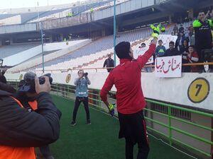 بازیگر پایتخت ورزشگاه آزادی را منفجر کرد +عکس