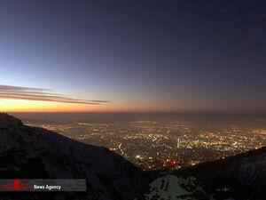 آلودگی هوای تهران از ارتفاعات توچال