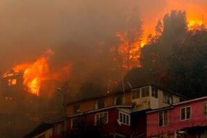 آتشسوزی در شیلی بیش از ۷۰۰ نفر را بیخانمان کرد +عکس