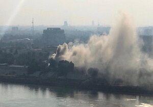 آتشسوزی گسترده در جنب وزارتدفاع عراق