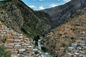 عکس/ روستای پلکانی زیبای کردستان