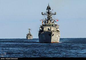 فیلم/ سومین روز رزمایش مرکب دریایی ایران، روسیه و چین