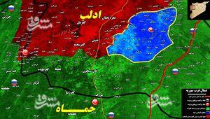 مذاکرات روسیه و ترکیه عامل اصلی توقف پیشروی ارتش سوریه در جنوب شرق ادلب/ جزئیات حملات سنگین گروههای تروریستی در حومه شهرکهای «جرجناز و التح» + نقشه میدانی و عکس