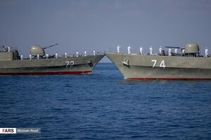 فیلم/ رژه دریایی در رزمایش مرکب ایران روسیه و چین