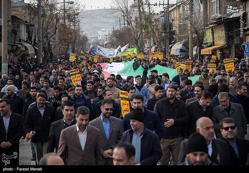 پاسداشت حماسه نهم دی در کرمانشاه