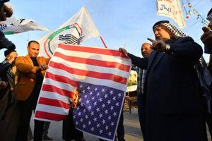 عکس/ واکنش مردم عراق به حملات اخیر آمریکا