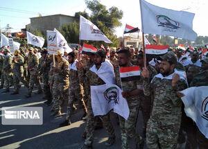تشییع پیکر شهدای الحشد الشعبی در بغداد