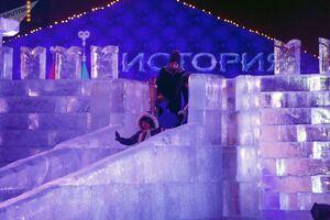 عکس/ جشنواره مجسمههای یخی در مسکو