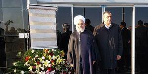 افتتاح ترمینال بینالمللی فرودگاه اردبیل با حضور روحانی