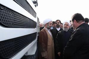 افتتاح خط تولید خودروی سنگین با حضور روحانی