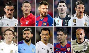 ۱۰ بازیکن برتر یک دهه گذشته فوتبال+عکس