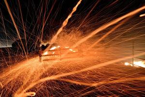 تصویری از آتش و باد در استرالیا