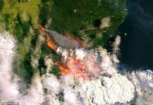 تصویر ماهوارهای از آتش سوزی مهیب استرالیا