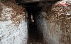 عکس/ کشف تونلهای تروریستها در جنوب ادلب