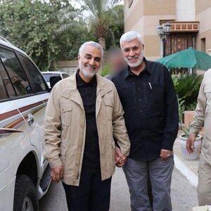 تصویری از حاج قاسم سلیمانی و ابومهدی المهندس