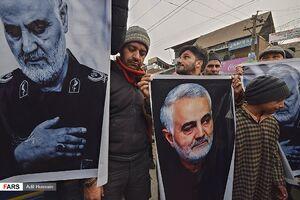 راهپیمایی شیعیان کشمیر در پی شهادت««سردار سلیمانی»