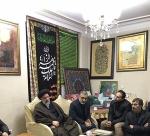 رئیسی در منزل شهیذد سلیمانی