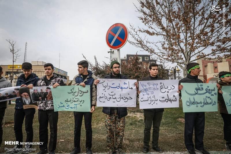 راهپیمایی مردم زنجان در پی شهادت سردار سپهبد حاج قاسم سلیمانی