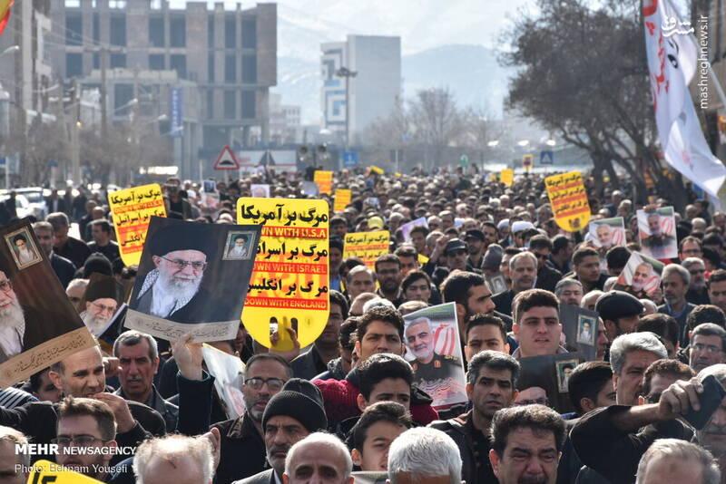 راهپیمایی مردم اراک در پی شهادت سردار سپهبد حاج قاسم سلیمانی