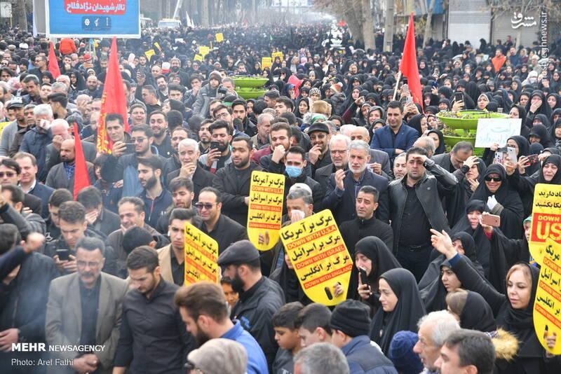 راهپیمایی مردم البرز در پی شهادت سردار سپهبد حاج قاسم سلیمانی