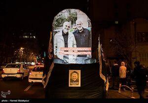 عکس/ شام غریبان سپهبد شهید قاسم سلیمانی در میدان فلسطین