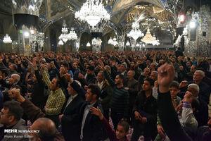 اجتماع عظیم هیئت های مذهبی در رواق حرم مطهر رضوی