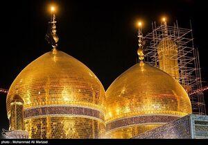 حضور مقامات ایرانی و عراقی در حرم امامین کاظمین برای تشییع پیکر سپهبد سلیمانی