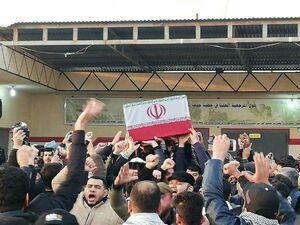 انتقال پیکر شهدای ایرانی و عراقی به مراسم تشییع