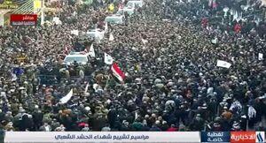تصاویر زنده شبکه CNN از تشییع پیکر سردار سلیمانی و ابومهدی