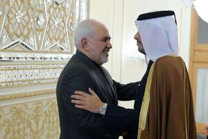 وزیر خارجه قطر با ظریف دیدار کرد