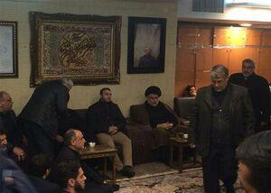 حضور مقتدی صدر در منزل سردار شهيد قاسم سليمانی