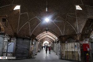 عکس/ تعطیلی بازار تبریز در دومین روز عزای عمومی